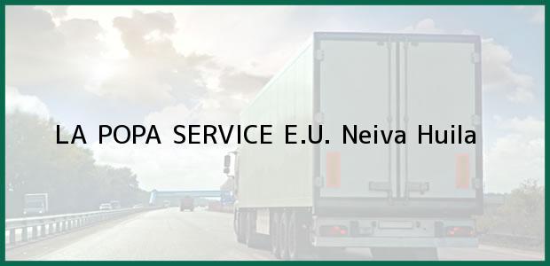 Teléfono, Dirección y otros datos de contacto para LA POPA SERVICE E.U., Neiva, Huila, Colombia