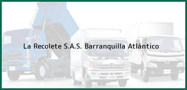 Teléfono, Dirección y otros datos de contacto para la Recolete S.A.S., Barranquilla, Atlántico, Colombia