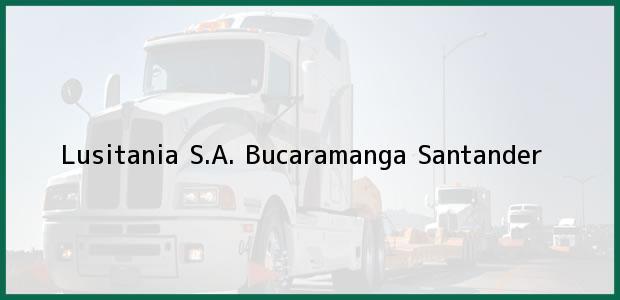 Teléfono, Dirección y otros datos de contacto para Lusitania S.A., Bucaramanga, Santander, Colombia