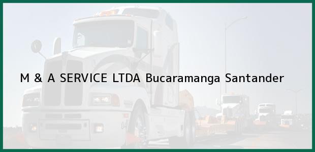 Teléfono, Dirección y otros datos de contacto para M & A SERVICE LTDA, Bucaramanga, Santander, Colombia