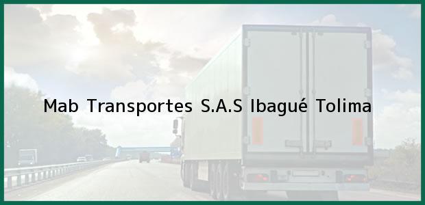 Teléfono, Dirección y otros datos de contacto para Mab Transportes S.A.S, Ibagué, Tolima, Colombia
