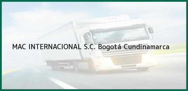 Teléfono, Dirección y otros datos de contacto para MAC INTERNACIONAL S.C., Bogotá, Cundinamarca, Colombia