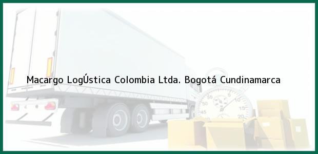 Teléfono, Dirección y otros datos de contacto para Macargo LogÚstica Colombia Ltda., Bogotá, Cundinamarca, Colombia