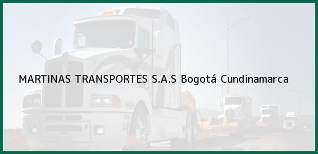 Teléfono, Dirección y otros datos de contacto para MARTINAS TRANSPORTES S.A.S, Bogotá, Cundinamarca, Colombia
