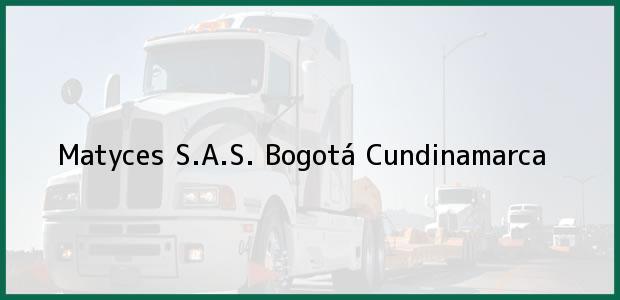 Teléfono, Dirección y otros datos de contacto para Matyces S.A.S., Bogotá, Cundinamarca, Colombia