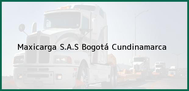 Teléfono, Dirección y otros datos de contacto para Maxicarga S.A.S, Bogotá, Cundinamarca, Colombia