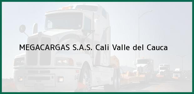 Teléfono, Dirección y otros datos de contacto para MEGACARGAS S.A.S., Cali, Valle del Cauca, Colombia
