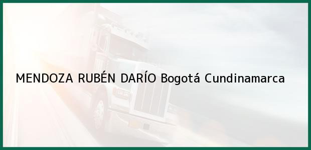 Teléfono, Dirección y otros datos de contacto para MENDOZA RUBÉN DARÍO, Bogotá, Cundinamarca, Colombia