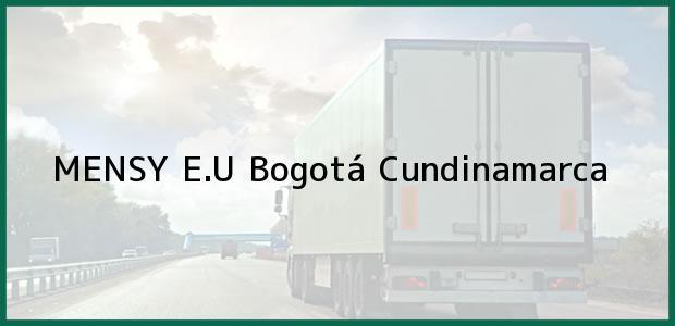 Teléfono, Dirección y otros datos de contacto para MENSY E.U, Bogotá, Cundinamarca, Colombia
