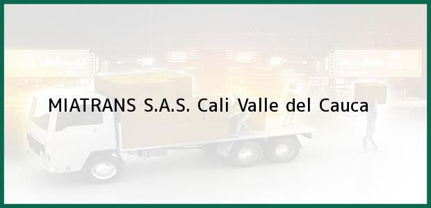 Teléfono, Dirección y otros datos de contacto para MIATRANS S.A.S., Cali, Valle del Cauca, Colombia