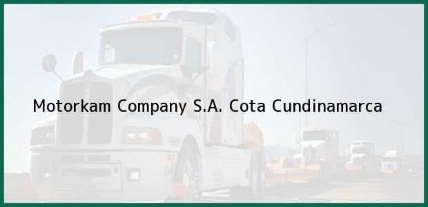 Teléfono, Dirección y otros datos de contacto para Motorkam Company S.A., Cota, Cundinamarca, Colombia
