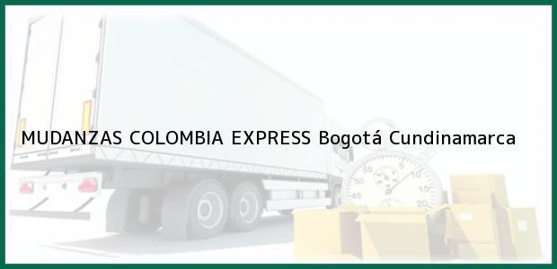 Teléfono, Dirección y otros datos de contacto para MUDANZAS COLOMBIA EXPRESS, Bogotá, Cundinamarca, Colombia