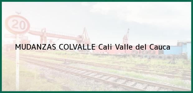 Teléfono, Dirección y otros datos de contacto para MUDANZAS COLVALLE, Cali, Valle del Cauca, Colombia
