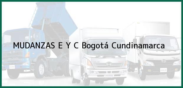 Teléfono, Dirección y otros datos de contacto para MUDANZAS E Y C, Bogotá, Cundinamarca, Colombia