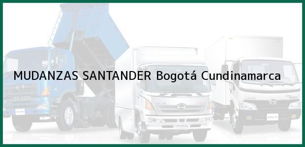 Teléfono, Dirección y otros datos de contacto para MUDANZAS SANTANDER, Bogotá, Cundinamarca, Colombia