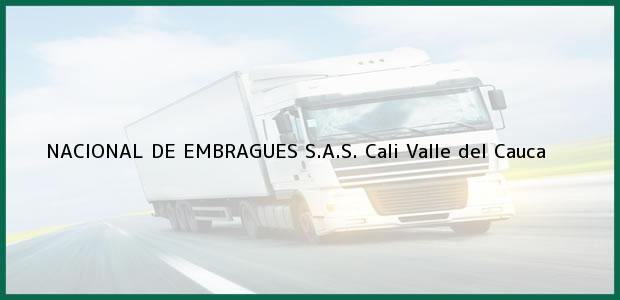Teléfono, Dirección y otros datos de contacto para NACIONAL DE EMBRAGUES S.A.S., Cali, Valle del Cauca, Colombia