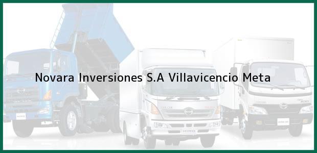 Teléfono, Dirección y otros datos de contacto para Novara Inversiones S.A, Villavicencio, Meta, Colombia