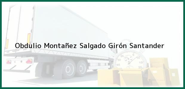 Teléfono, Dirección y otros datos de contacto para Obdulio Montañez Salgado, Girón, Santander, Colombia