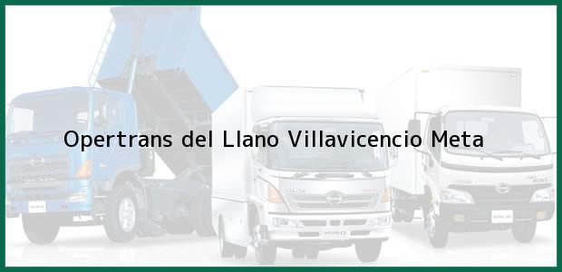 Teléfono, Dirección y otros datos de contacto para Opertrans del Llano, Villavicencio, Meta, Colombia