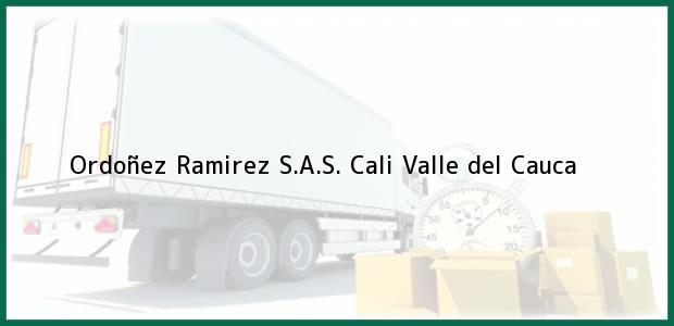 Teléfono, Dirección y otros datos de contacto para Ordoñez Ramirez S.A.S., Cali, Valle del Cauca, Colombia