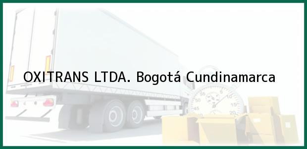 Teléfono, Dirección y otros datos de contacto para OXITRANS LTDA., Bogotá, Cundinamarca, Colombia