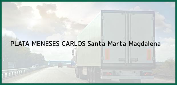 Teléfono, Dirección y otros datos de contacto para PLATA MENESES CARLOS, Santa Marta, Magdalena, Colombia