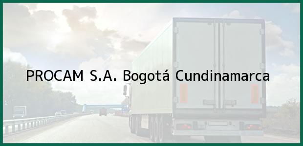 Teléfono, Dirección y otros datos de contacto para PROCAM S.A., Bogotá, Cundinamarca, Colombia