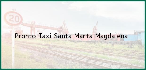 Teléfono, Dirección y otros datos de contacto para Pronto Taxi, Santa Marta, Magdalena, Colombia