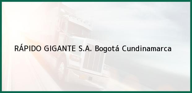 Teléfono, Dirección y otros datos de contacto para RÁPIDO GIGANTE S.A., Bogotá, Cundinamarca, Colombia