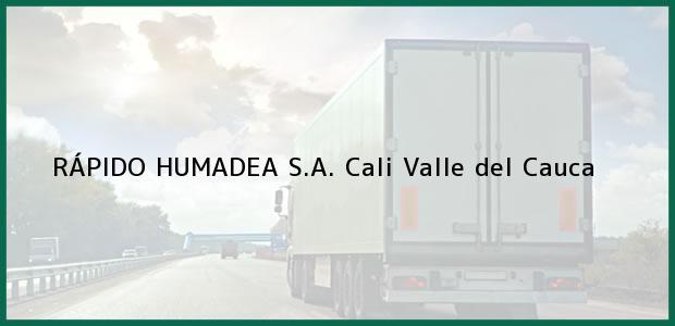 Teléfono, Dirección y otros datos de contacto para RÁPIDO HUMADEA S.A., Cali, Valle del Cauca, Colombia