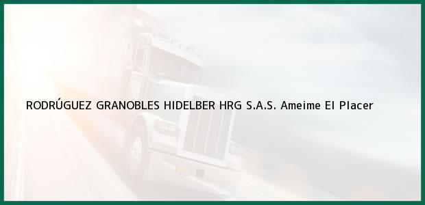 Teléfono, Dirección y otros datos de contacto para RODRÚGUEZ GRANOBLES HIDELBER HRG S.A.S., Ameime El Placer, , Colombia