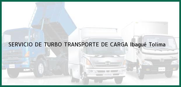 Teléfono, Dirección y otros datos de contacto para SERVICIO DE TURBO TRANSPORTE DE CARGA, Ibagué, Tolima, Colombia
