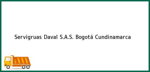 Teléfono, Dirección y otros datos de contacto para Servigruas Daval S.A.S., Bogotá, Cundinamarca, Colombia