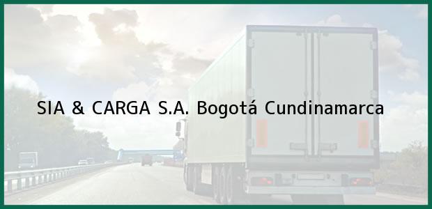 Teléfono, Dirección y otros datos de contacto para SIA & CARGA S.A., Bogotá, Cundinamarca, Colombia