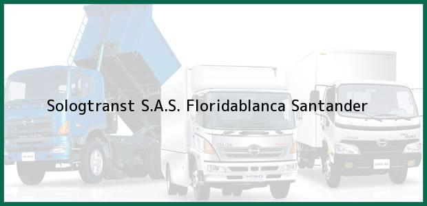 Teléfono, Dirección y otros datos de contacto para Sologtranst S.A.S., Floridablanca, Santander, Colombia