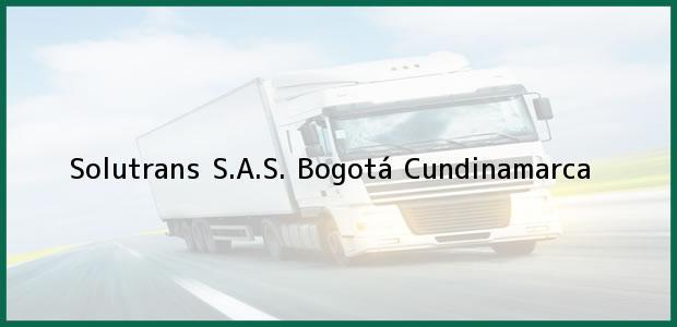 Teléfono, Dirección y otros datos de contacto para Solutrans S.A.S., Bogotá, Cundinamarca, Colombia