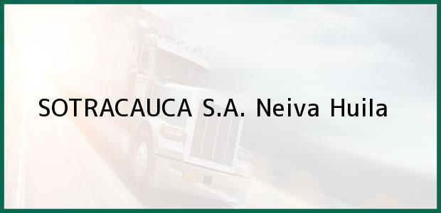 Teléfono, Dirección y otros datos de contacto para SOTRACAUCA S.A., Neiva, Huila, Colombia