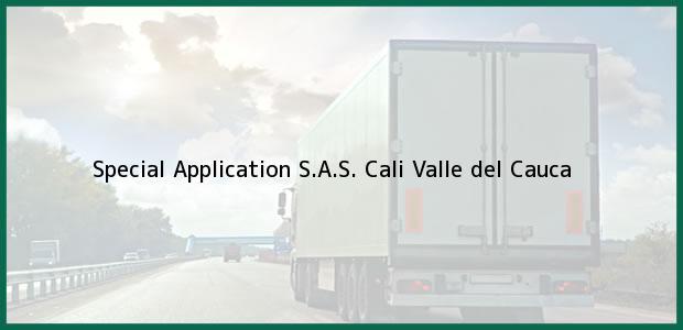 Teléfono, Dirección y otros datos de contacto para Special Application S.A.S., Cali, Valle del Cauca, Colombia