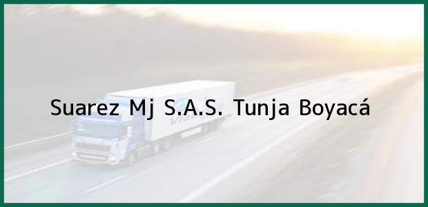 Teléfono, Dirección y otros datos de contacto para Suarez Mj S.A.S., Tunja, Boyacá, Colombia