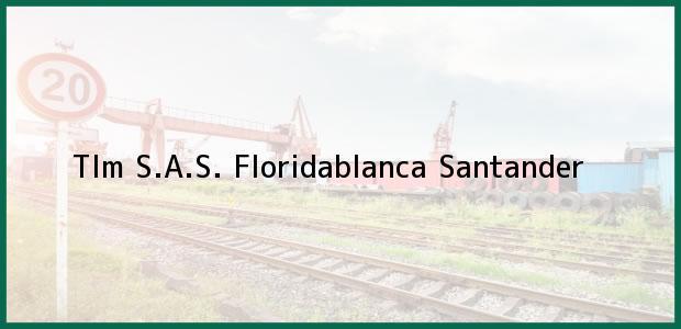 Teléfono, Dirección y otros datos de contacto para Tlm S.A.S., Floridablanca, Santander, Colombia