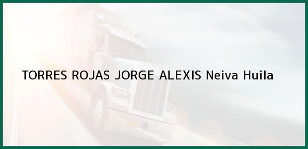 Teléfono, Dirección y otros datos de contacto para TORRES ROJAS JORGE ALEXIS, Neiva, Huila, Colombia