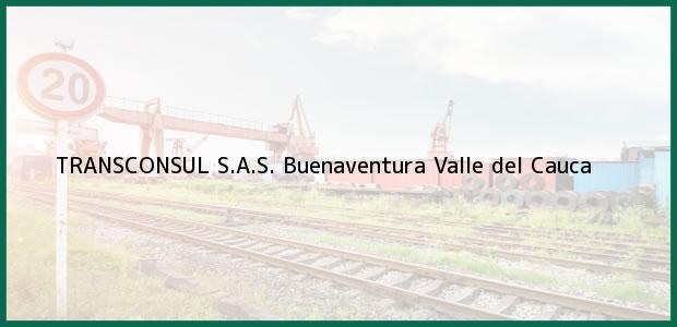 Teléfono, Dirección y otros datos de contacto para TRANSCONSUL S.A.S., Buenaventura, Valle del Cauca, Colombia