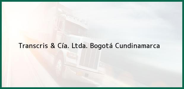 Teléfono, Dirección y otros datos de contacto para Transcris & Cía. Ltda., Bogotá, Cundinamarca, Colombia