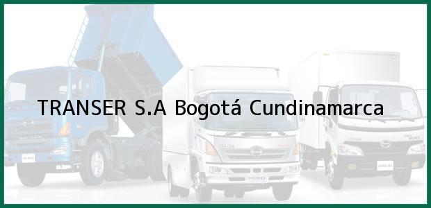 Teléfono, Dirección y otros datos de contacto para TRANSER S.A, Bogotá, Cundinamarca, Colombia