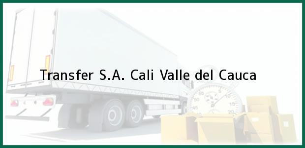 Teléfono, Dirección y otros datos de contacto para Transfer S.A., Cali, Valle del Cauca, Colombia