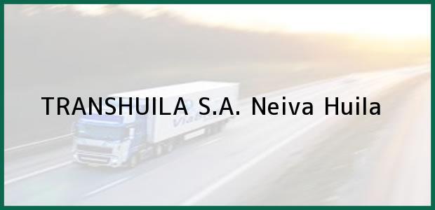 Teléfono, Dirección y otros datos de contacto para TRANSHUILA S.A., Neiva, Huila, Colombia