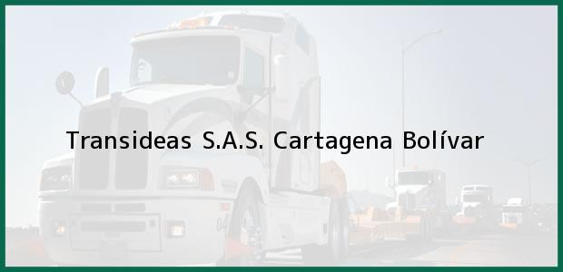 Teléfono, Dirección y otros datos de contacto para Transideas S.A.S., Cartagena, Bolívar, Colombia