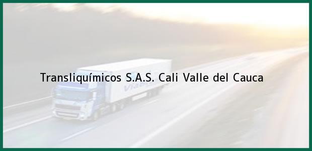 Teléfono, Dirección y otros datos de contacto para Transliquímicos S.A.S., Cali, Valle del Cauca, Colombia