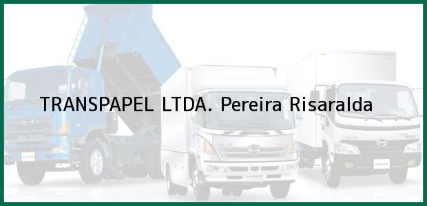 Teléfono, Dirección y otros datos de contacto para TRANSPAPEL LTDA., Pereira, Risaralda, Colombia