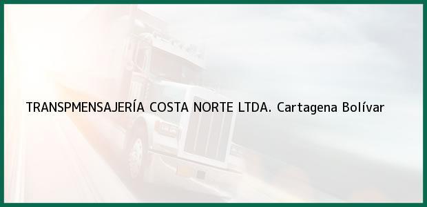 Teléfono, Dirección y otros datos de contacto para TRANSPMENSAJERÍA COSTA NORTE LTDA., Cartagena, Bolívar, Colombia